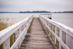 White jetty Royalty Free Stock Photo