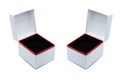 White jewelry box Stock Image