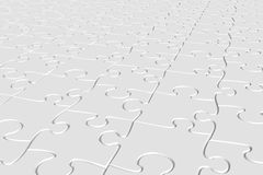 White jigsaw. Peices as texture or background Stock Images