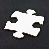 White jigsaw piece Stock Image