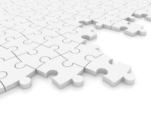 White Jigsaw pieces Stock Photos