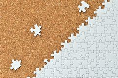 White jigsaw puzzle. Stock Photos