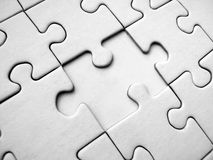White jigsaw puzzle. Whith one missed element (conceptual stock illustration