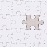 White jigsaw puzzle Royalty Free Stock Photography