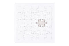White jigsaw puzzle. As a background Stock Image