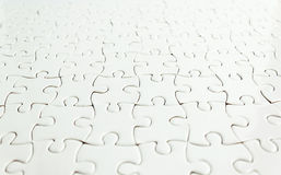 White jigsaw puzzle background Royalty Free Stock Photo