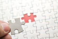 White jigsaw puzzle Stock Photo