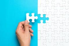 White jigsaw puzzle Royalty Free Stock Photo