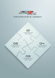 White Jigsaw Puzzle Infographics Design Royalty Free Stock Photo