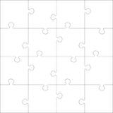 White Jigsaw  puzzle. Puzzle template. White Jigsaw  puzzle. Every piece is a single shape. Seamless puzzle texture. Puzzle template. Cutting guidelines. Eps 8 Stock Photography