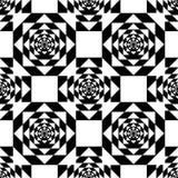 White Kaleidoscope Mirage on Black Background. Vector Illustration. Stock Image