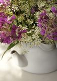 white kettle flower bouquet close-up royalty free stock photo