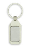 White key chain as a frame with space for text. Or illustrations Royalty Free Stock Photography