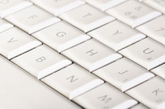 White keyboard Stock Image