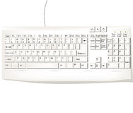 White keyboard. Old computer keyboard over white background Royalty Free Stock Photography