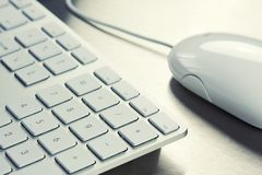 White keyboard Stock Images
