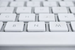 White Keyboard Royalty Free Stock Photos