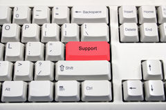 White keyboard with button name change Stock Photography