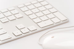 White keyboard with computer mouse Stock Image