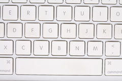 White keyboard with letters and numbers. Royalty Free Stock Image
