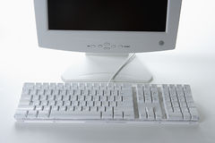 White Keyboard and Monitor Royalty Free Stock Photos