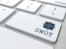 White Keyboard with SWOT Button. Royalty Free Stock Image