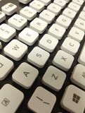 White keys on a black keyboard Royalty Free Stock Photos