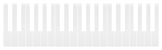 White keys of the piano keyboard Royalty Free Stock Photo