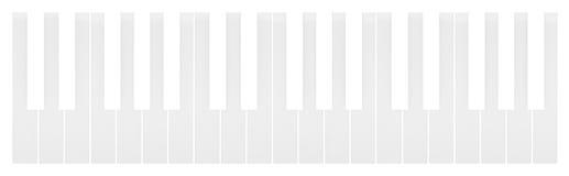 White keys of the piano keyboard Royalty Free Stock Photo