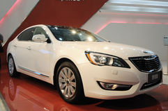 White Kia CADENZA Royalty Free Stock Photo