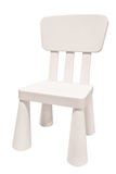 White kids plastic chair Stock Images