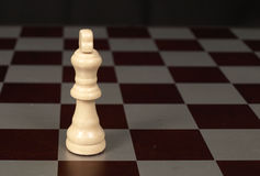 White king. On a chessboard shown up close Stock Images