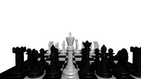 White king for black pieces Royalty Free Stock Images