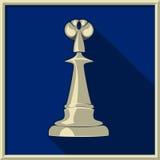 White king. Chess. White king on a blue background Stock Photos