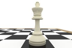 White king on chess board Royalty Free Stock Photography