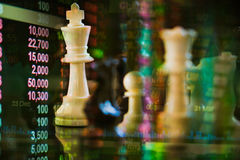 White king chess merge with stock Royalty Free Stock Photography