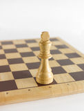 White king chess piece Royalty Free Stock Image