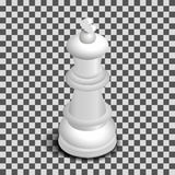 White king chess piece isometric, vector illustration. Stock Images