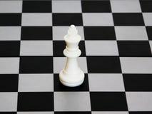 White king of chess Royalty Free Stock Photos