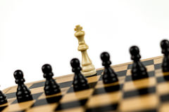 White King under Threat. White king threatened by black pawns Stock Photos