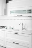 White kitchen Stock Image