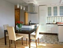 White kitchen Stock Images