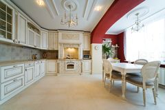 White kitchen Royalty Free Stock Photography