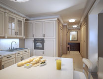 White kitchen art deco style Stock Photography