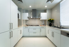 White kitchen. A white clean modern kitchen Stock Photo