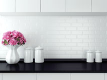 White kitchen design. Stock Photo