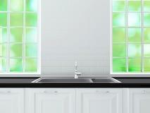 White kitchen design. Stock Photography