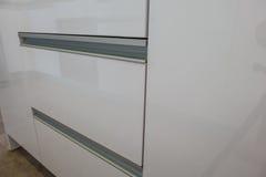 White kitchen drawer Royalty Free Stock Photos