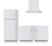 White kitchen electronics. illustration Stock Photos