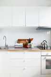 White Kitchen Interior Accessories Apple Products Royalty Free Stock Photo